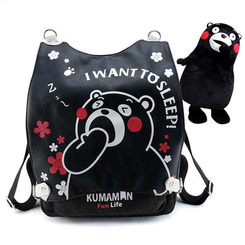 Японский аниме; Кумамон; сумка для косплея; школьный рюкзак на плечо; милые многофункциональные сумки через плечо