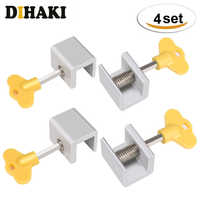 8PCS 4Sets Adjustable Sliding Window Locks Stop Aluminum Alloy Door Frame Security Lock with Keys Home Office Safety window Lock