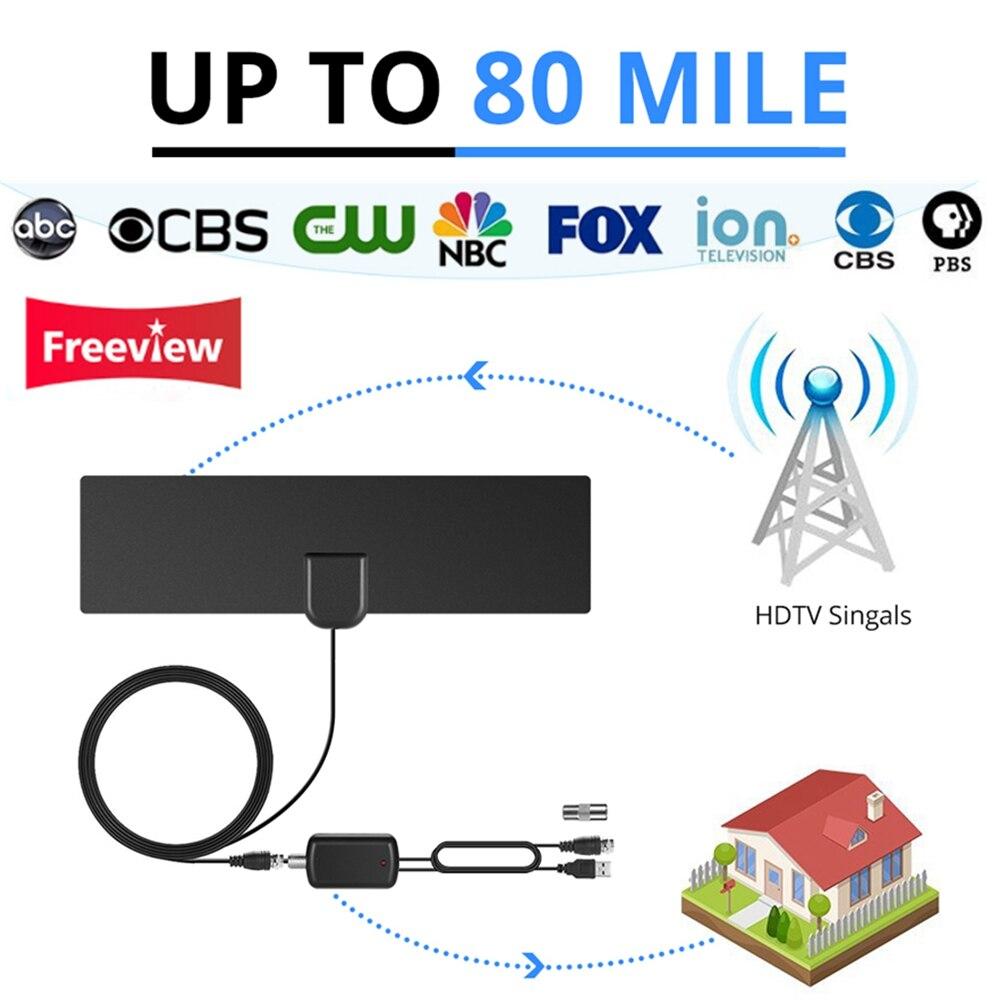 Univerzális csatlakozó HDTV digitális beltéri TV antennával, - Otthoni audió és videó
