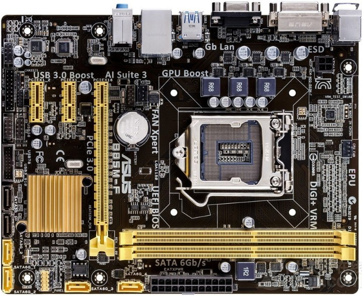 Used,for ASUS B85M-F PLUS Motherboard B85 Socket LGA 1150 i7 i5 i3 DDR3 16G SATA3 Micro-ATX купить