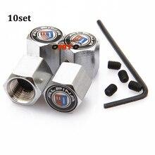 De preços por atacado fit todos os carros modelo 10 conjunto válvula do pneu da roda auto cobrir para Alpina emblema tampa da haste da válvula da roda de carro Anti-roubo do Metal