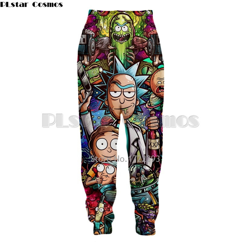 PLstar Cosmos New Fashion 3d Sweatpants Rick And Morty Pants Men/Women Casual Baggy Jogger Pants Cartoon Hip Hop Trousers