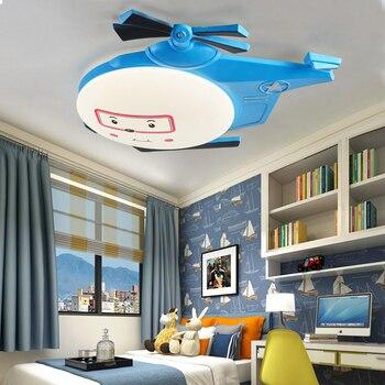 Mignon avion LED plafonnier chambre d'enfants dessin animé plafonniers chambre décoration bleu et rose lampe ZSH50412