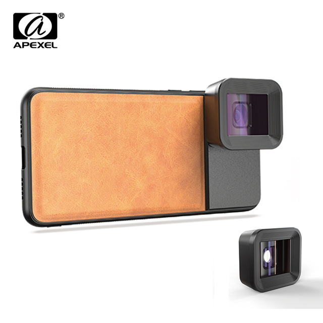 APEXEL Anamorphic Lens 1.33x Wide Screen Video Widescreen Slr Movie Mobile Phone Lens for iPhone Huawei Samsung smartphones