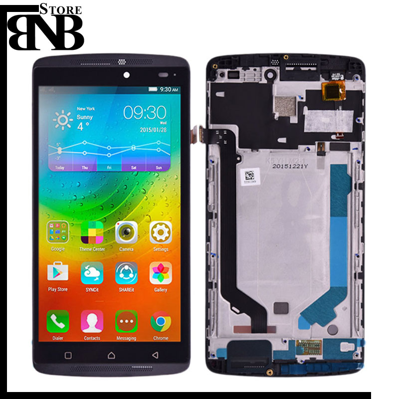 For Lenovo K4 Note A7010 LCD Display Vibe K4 Note LCD Screen Touch Screen Panel Digitizer Assembly With Frame Lcdd Without Frame