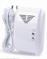 New EU 220V Standalone Combustible Gas Detector Household Gas Leaking Detector LPG Natural Gas Detector With