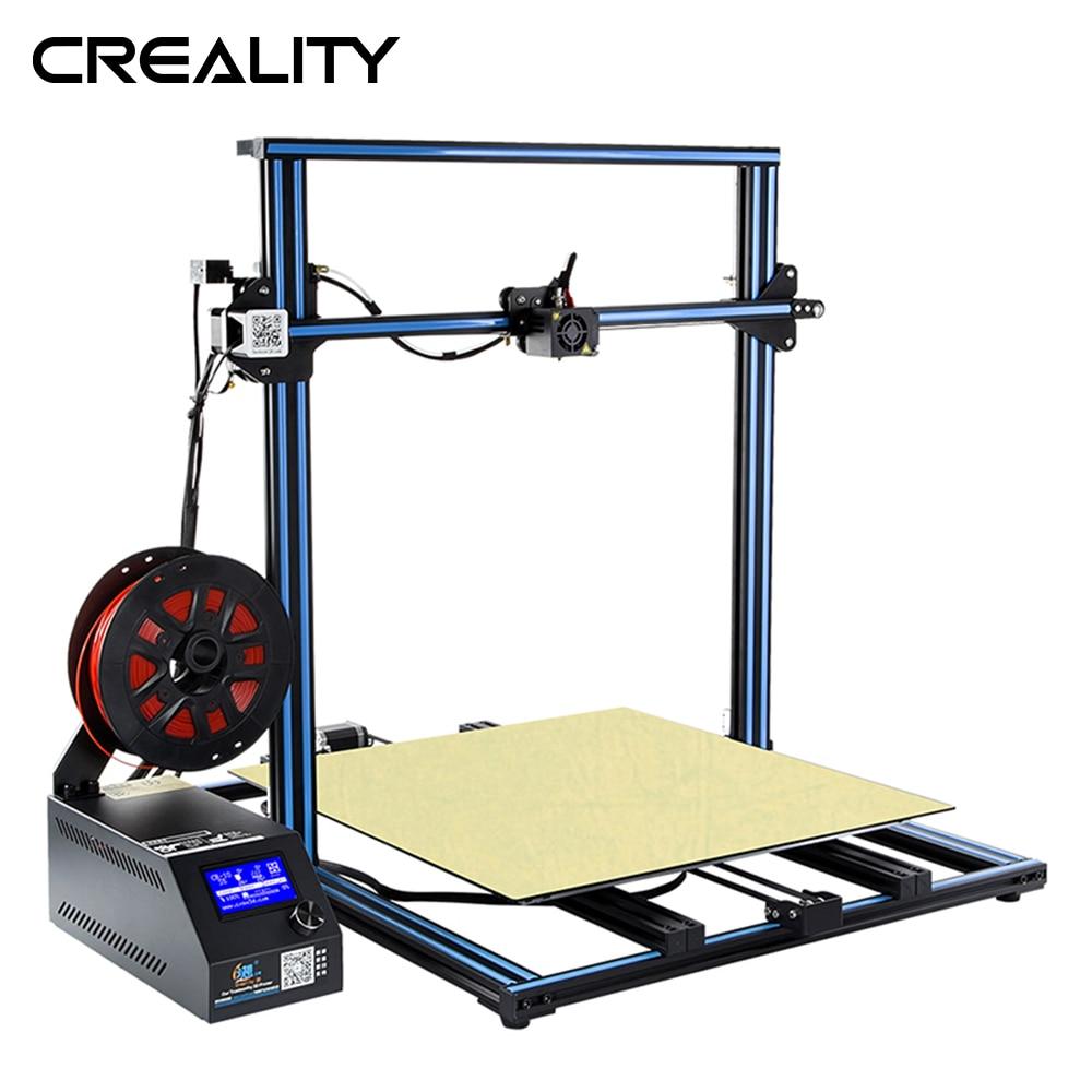 Tamanho grande CRIATIVIDADE 3D Grande Tamanho de Impressão de 500*500 milímetros CR-10 S5 Dua Z Rod Filament Sensor de Detecção de Currículo power Off 3D Impressora