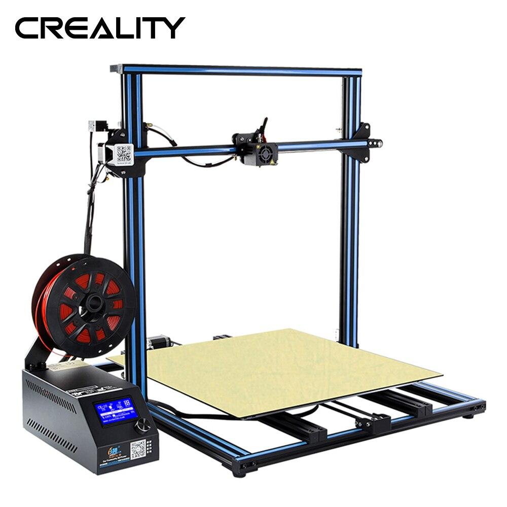 Tamanho grande creality 3d grande tamanho de impressão 500*500mm CR-10 s5 dua z haste filamento detectar sensor retomar energia fora impressora 3d
