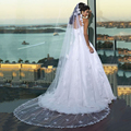 White Ivory Bridal Veil Long Lace Wedding Veils Voile Mariage Veu De Noiva Com Renda New Arrival