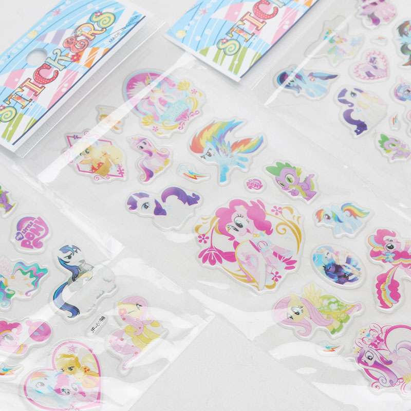 Image 5 - 2019 6pcs/set PVC Pony Stickers My Little Pony Toys Pack Children Girl Nail Stickers 3D Rainbow Dash Twilight Sparkle Pinkie Pie-in Action & Toy Figures from Toys & Hobbies