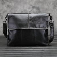 SENDEFN New Messenger Bag Men Genuine Leather Men's shoulder bags male Casual Zipper Crossbody Bags clutch bag for men handbags