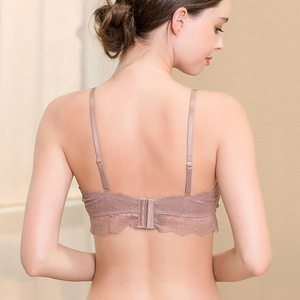 Image 2 - Women 100% Real Silk Bras 3/4 Cup Body shaping Wire Free  Adjusted straps Women Underwear France Style Sexy Lingerie 8015