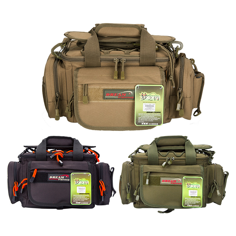 цена на 40*23*19cm Fishing Bag Multifunctional Large Capacity Outdoor Waist Shoulder Bag Case Reel Lure Storage Bag Carp Fishing Tackle