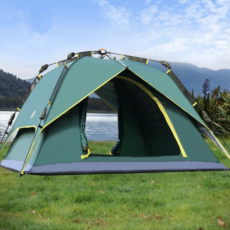 3-4 personne 230*230*145 cm Camping Tentes Étanche Automatique Double Couches Randonnée Escalade Tentes En Plein Air avec Sacs de Transport En Ligne