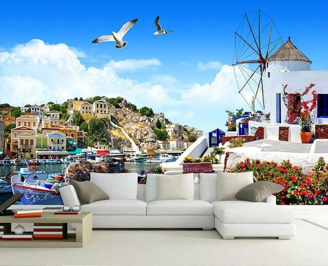 3d seascape wallpaper venice mediterranean photo wallpaper personalized custom wall murals kids room decor bedroom home