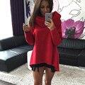 S-XL Mulheres Sweetshirt Inverno Hoodies do Pulôver Gola Cachecol de Natal Casacos de Manga Longa Estilo Casual Jaquetas Camisolas Outono E