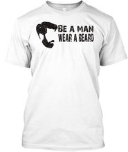 2019 New Fashion Brand Print T-Shirt Male Brand Be A Man Wear Beard_Eu Stylisches T-Shirtfitted T Shirts