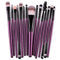 15PCS Make Up Brushes Professional Cosmetic Plastic Handle for Basic Foundation Eyebrow Mascara Lip Makeup Set