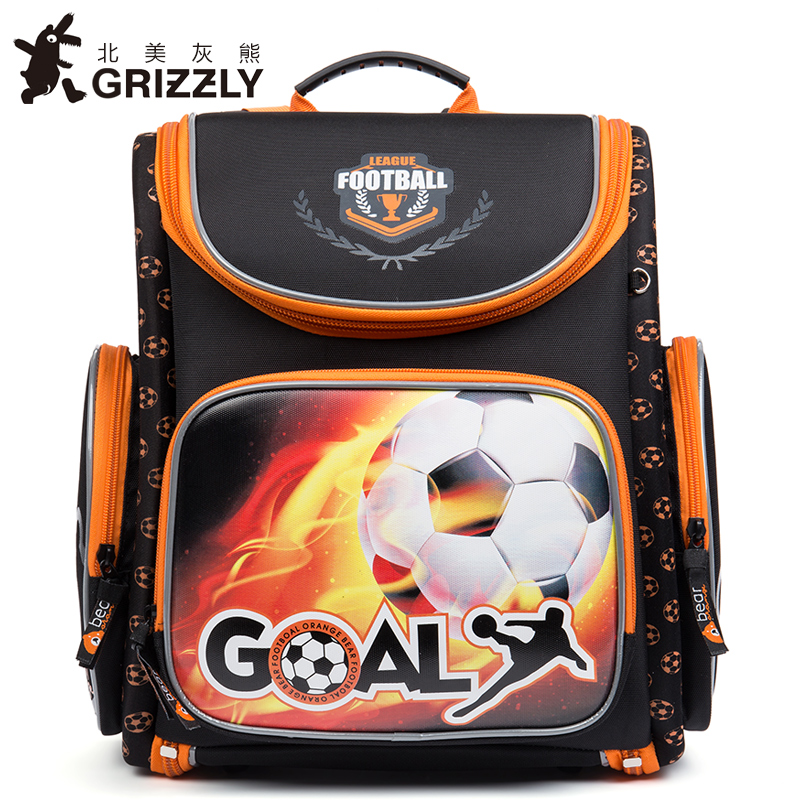 GRIZZLY New Kids Cartoon Primary School bags for Children Satchel Multifunctional Orthopedic Backpack for Girls Grade 1-4 new 2017 character school bag girls boys orthopedic backpack children satchel elementary school backpack for girls grade 1 4
