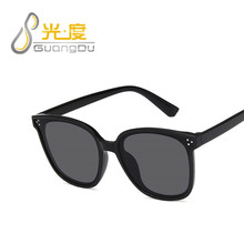 GUANGDU New Children Sunglasses Kids Round Vintage Black Red