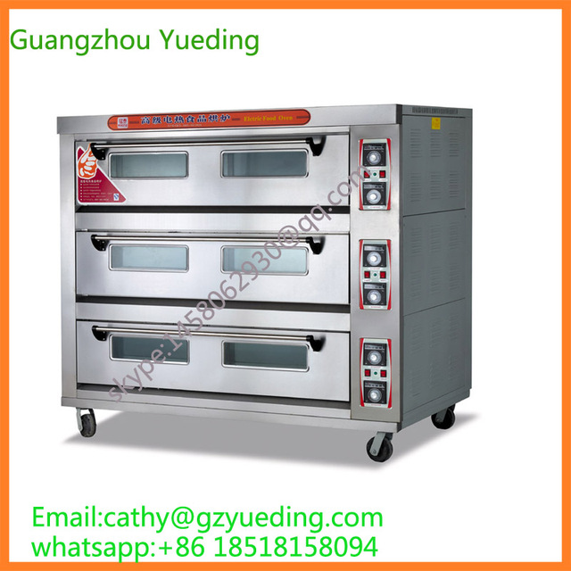 commercial kitchen equipment electric stainless steel 3 layer 9 trays bakery oven - Commercial Kitchen Equipment