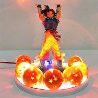 Dragon Ball Z Figure Son Goku Genki DamaSpirit Bomb DIY Night Light Crystal Ball Dragon Ball Super Goku Spirit Bomb Lamparas Toy