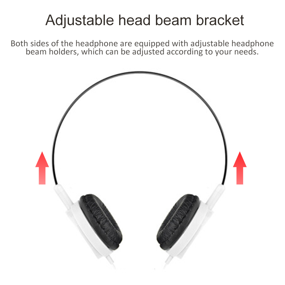 New Wired Headphones Over Ear Headsets High sound quality Music Stereo Earphone For iPhone Xiaomi Sony Huawei PC in Headphone Headset from Consumer Electronics