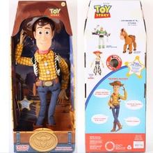 43 cm historia de juguete 3 figuras de juguete de acción de madera parlante modelo  juguetes niños regalo de Navidad envío gratis 49973be8090