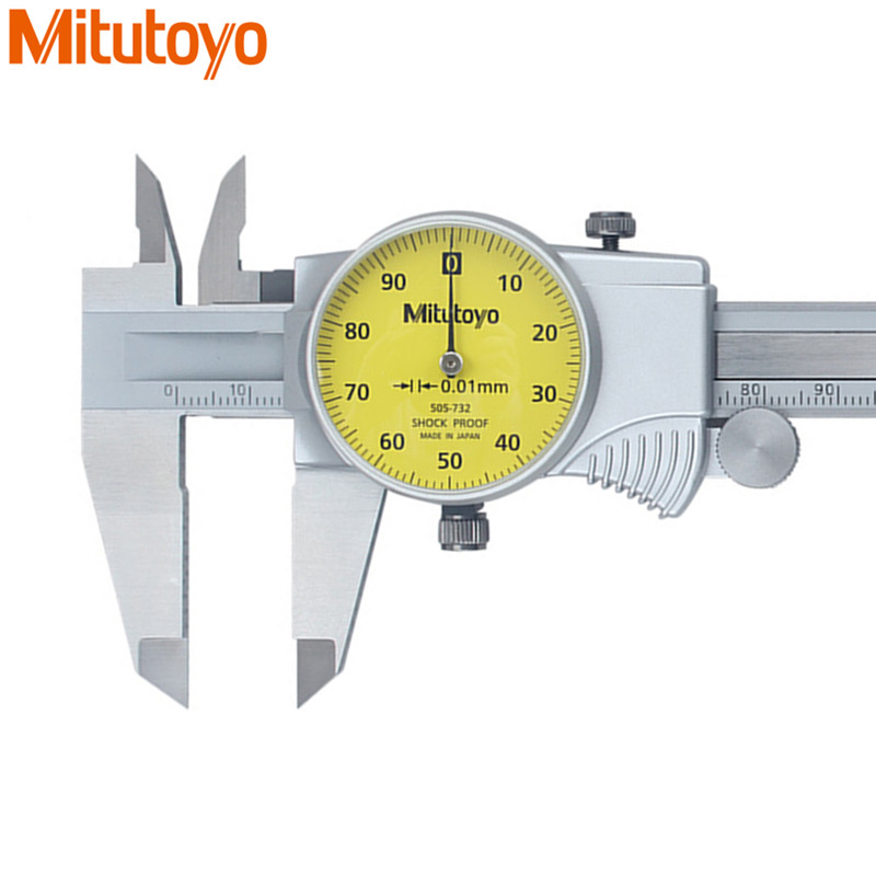 Original Mitutoyo Dial Caliper 0-150mm/0.01 505-732 Calibre Stainless Steel Vernier Calipers Paquimetro Measure Tools sata 91521 stainless steel dial caliper silver 0 150mm