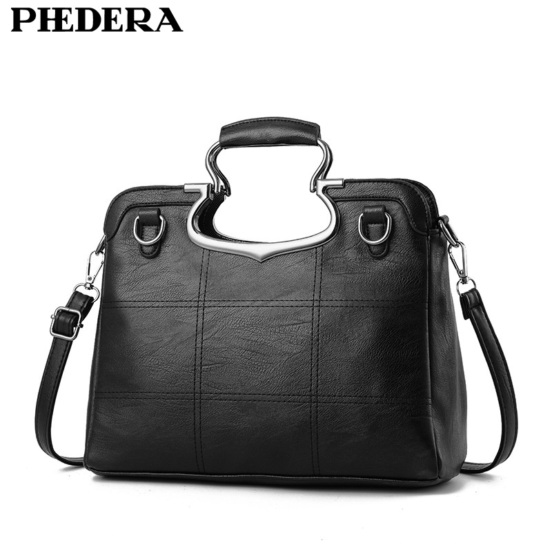 Black Leather Messenger Bag Promotion-Shop for Promotional Black ...