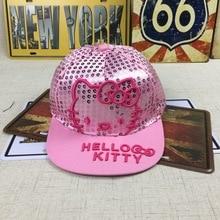 Кепка hello kitty, Детская кепка, детские бейсболки эластичные для мальчиков и девочек, спортивные летние бейсболки, 50-54 см