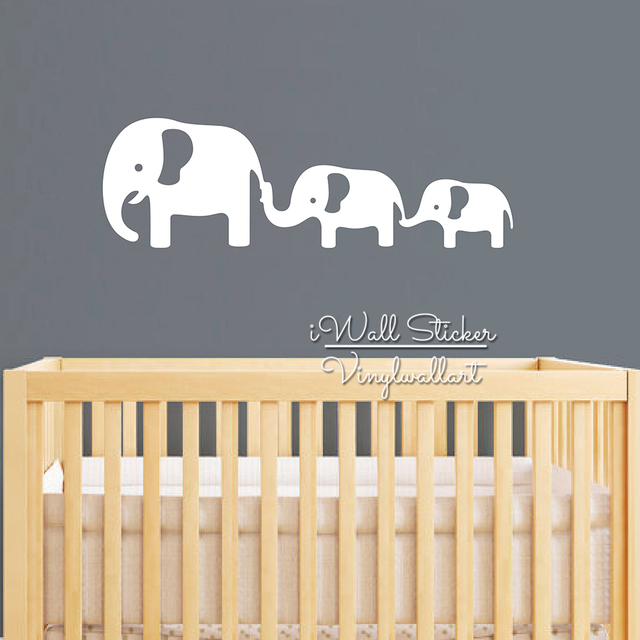 elephant wall sticker baby nursery elephant family wall decal diy