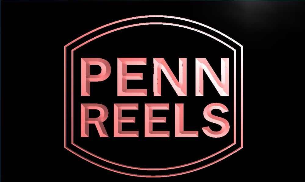 R003 Penn Reels Fishing Logo LED Neon Light Sign