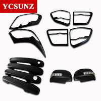 2013for Toyota Fortuner Sticker Kits Headlight Tail Lights Handle Mirror Cover For Toyota Fortuner Hilux Sw4 2012 2014 Ycsunz