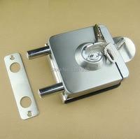 free shipping glass door lock security lock Household Door bolt Hardware Hypostyle stainless steel lock bolt Engineering