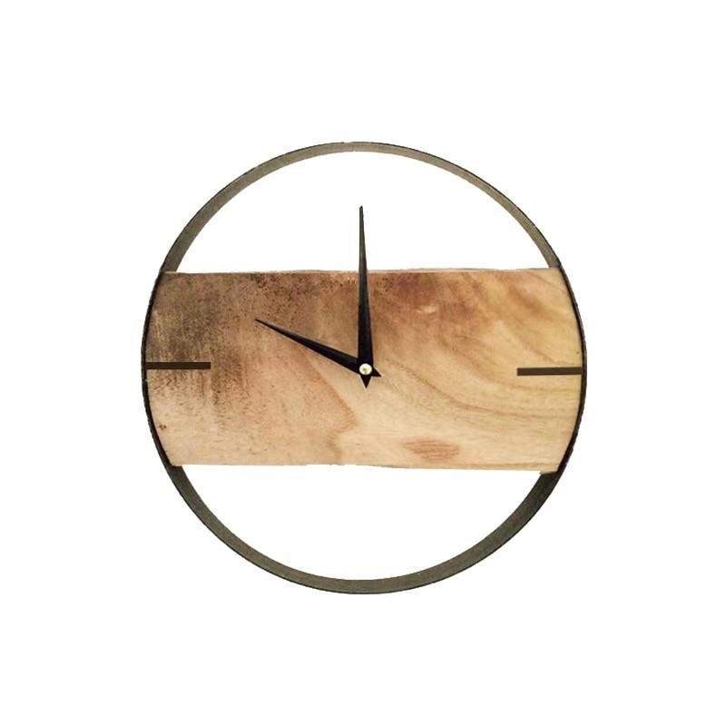 US $32.89 6% OFF|Stumm Lod Natürliche Holz Wanduhr Reloj De Pared Relogio  De P Digitale Wanduhr Wohnzimmer Meeting raum dekoration Saat uhren-in ...