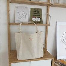 Canvas-Bag Handbag Shopper-Bag Totebag Casual High-Quality Folding Reusable Daily-Use