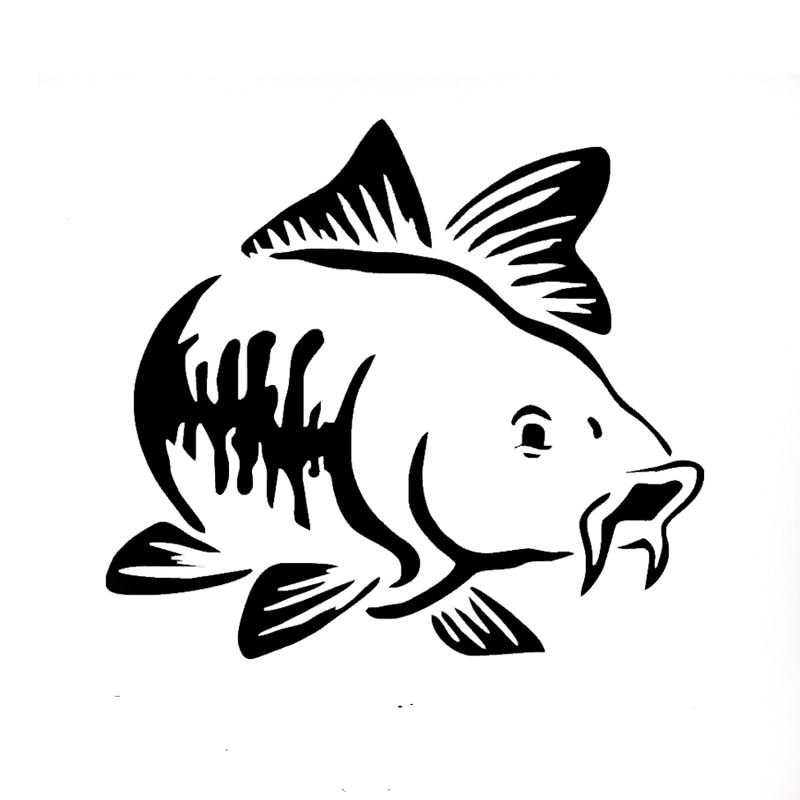 15*15 cm Wholesale 10/20pcs/lot Carp Fishing cartoon animal pattern Car Sticker 13 colors  car window car body vinyl decal arrow pattern car body reflective warming mark sticker golden red silver 10 pcs