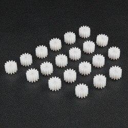 Uxcell-engranaje cónico de plástico de 13 dientes, 20 Uds., 5x7,5mm, diámetro de orificio de 2mm para DIY, coche, Robot, modelo, Motor, accesorios de juguete, 132A
