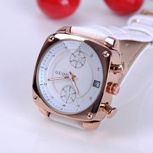 Wristwatches Quartz-Watches Rhinestone Life Personality Waterproof Square Women's Watches Genuine Leather Color Optional