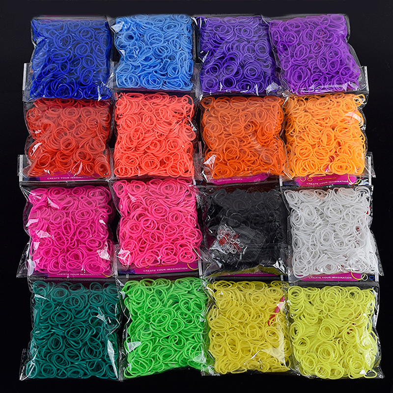 2019 Hot Diy Toys Rubber Bands Bracelet For Kids Or Hair Rubber Loom Bands Refill Rubber Band Make Woven Bracelet DIY Gift