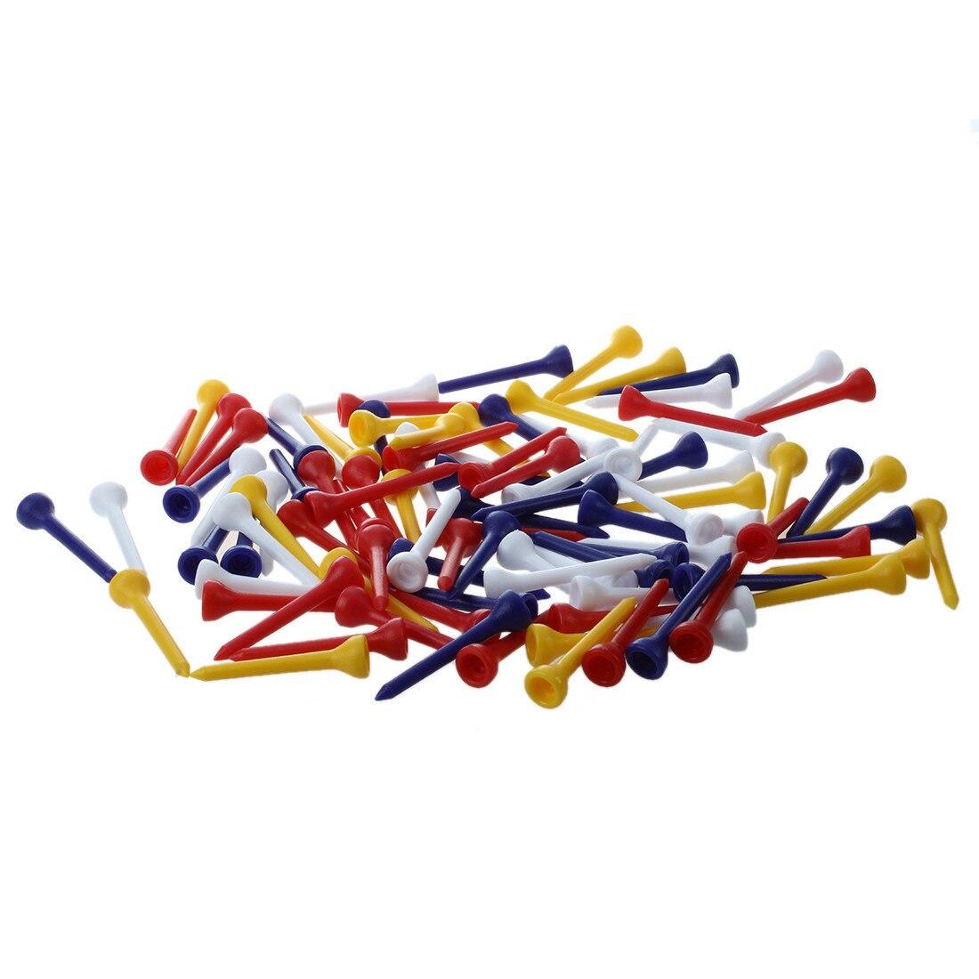 Wholesale! 100pcs 49mm color mixed plastic Golf Tees