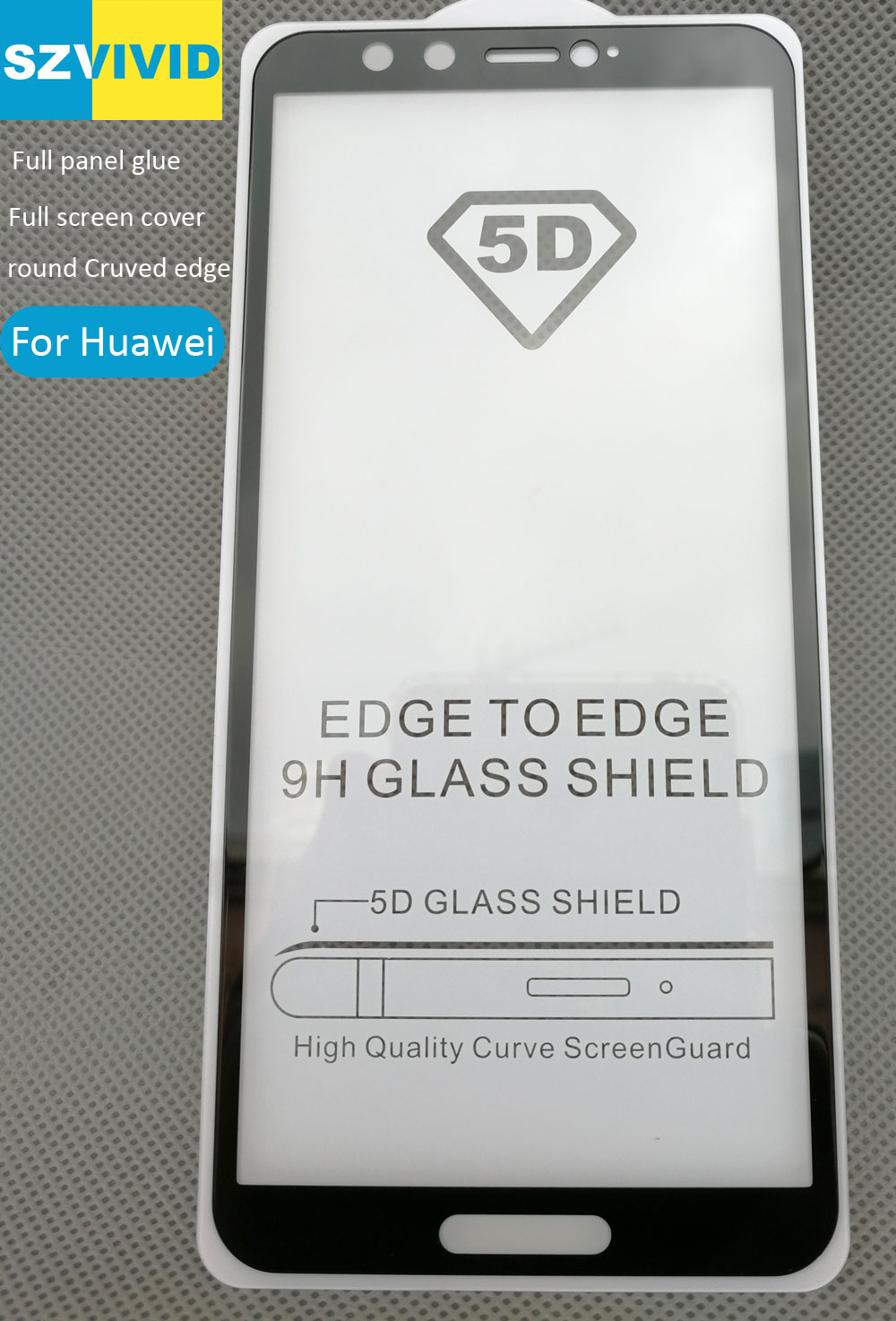 Full Screen Panel Glue Cover Tempered Glass For Huawei P Smart Honor 9 Lite 7C Pro 7A Pro 2.5D Curved oleophobic High quality