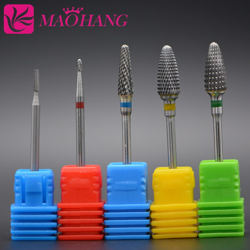 MAOHANG 1pcs Tungsten Carbide Cutter Burrs Nail Drill Bit Metal Bits For Electric Manicure Nail Drill Accessories