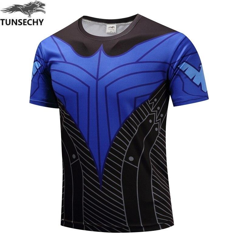 TUNSECHY Brand Fashion movement short sleeve T-shirt men round collar short sleeve Digital printing T-shirt free shipping