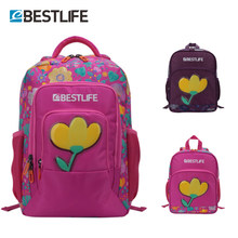 BESTLIFE Junior Girls School Bags Schoolbag Kids Floral Print Student Bag Children Backpack For Teenage with Pencil Box Mochila(China)