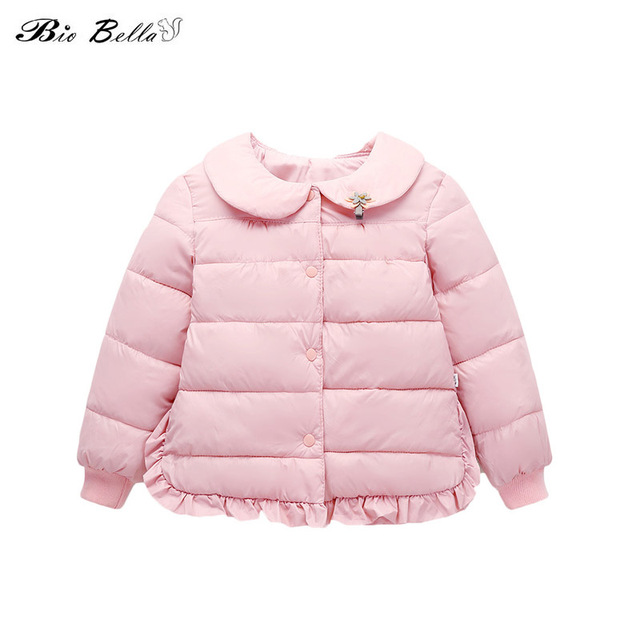 Special Offers Winter 2018 Children Girl's Down Jacket New Full Sleeve Cute Princess Winter's CoatS Warm Cute Solid Think Girl Kids Outerwears