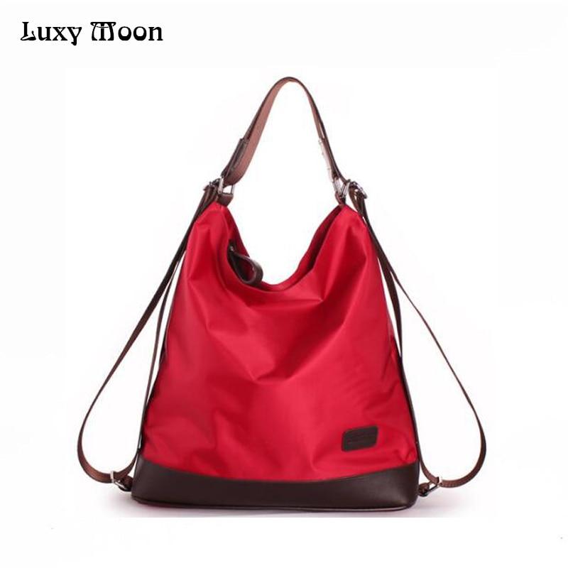 2016 women brand European vintage purple shoulder bag ladies casual waterproof bolsos mujer Nylon Tote Shopping Bag ZD391 2016 brand 40l waterproof nylon women