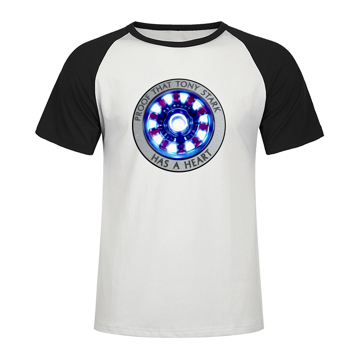 The Avengers Tony Stark Has A Heart Tshirt Ron Man Men Printed Raglan Tshirts 2019 Summer Cotton Short Sleeve Superhero T Shirt in T Shirts from Men 39 s Clothing