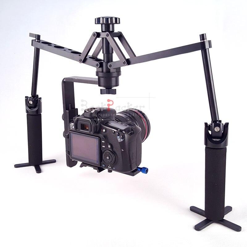 Pour 1DX 6D 7D 5D Mark II D600 D4 caméra de poche stabilisateur mécanique Spider Comodo orbite DSLR gréement support accessoires